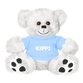 Plush Big Paw 8 1/2 inch White Bear w/Light Blue Shirt-Primary Logo