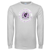 White Long Sleeve T Shirt-Crest Design