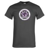 Charcoal T Shirt-Crest Design