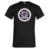 Black T Shirt-Crest Design