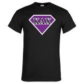Black T Shirt-Greek Diamond