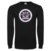Black Long Sleeve T Shirt-Crest Design