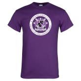 Purple T Shirt-Crest Design