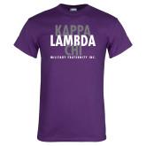 Purple T Shirt-Stacked Kappa Lambda Chi