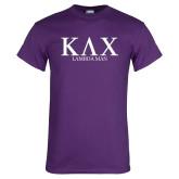 Purple T Shirt-Greek Lambda Man