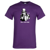 Purple T Shirt-Uncle Sam Mute Your Phone