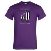 Purple T Shirt-Flag Design