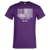 Purple T Shirt-KAX Flag Design