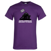 Purple T Shirt-Soldiers With Flag