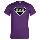Purple T Shirt-Greek Diamond