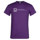 Purple T Shirt-Crest Wordmark