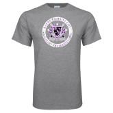 Grey T Shirt-Crest Design