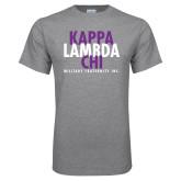 Grey T Shirt-Stacked Kappa Lambda Chi