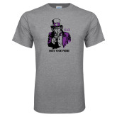 Grey T Shirt-Uncle Sam Mute Your Phone