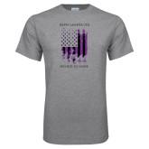 Grey T Shirt-Flag Design