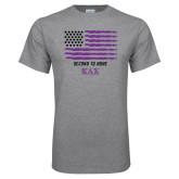 Grey T Shirt-KAX Flag Design