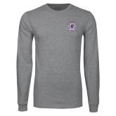 Grey Long Sleeve T Shirt-Crest