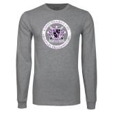 Grey Long Sleeve T Shirt-Crest Design