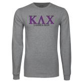 Grey Long Sleeve T Shirt-Greek Lambda Man