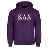 Purple Fleece Hoodie-Greek Letters