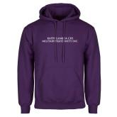 Purple Fleece Hoodie-Wordmark