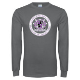 Charcoal Long Sleeve T Shirt-Crest Design
