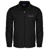 Full Zip Black Wind Jacket-Greek Letters
