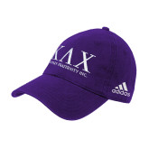 Adidas Purple Slouch Unstructured Low Profile Hat-Primary Mark
