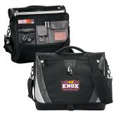 Slope Black/Grey Compu Messenger Bag-Prairie Fire Logo