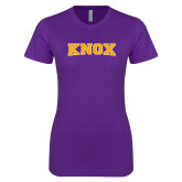 Next Level Ladies SoftStyle Junior Fitted Purple Tee-Knox