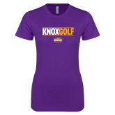 Next Level Ladies SoftStyle Junior Fitted Purple Tee-Knox Golf