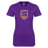 Next Level Ladies SoftStyle Junior Fitted Purple Tee-Knox Soccer Shield