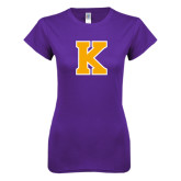 Next Level Ladies Softstyle Junior Fitted Purple Tee-K
