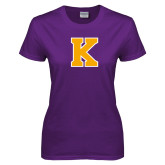 Ladies Purple T Shirt-K