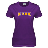 Ladies Purple T Shirt-Knox