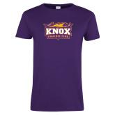 Ladies Purple T Shirt-Prairie Fire Logo, Custom Tee w/ Name and #