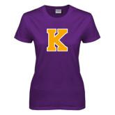 Ladies Purple T Shirt-K