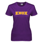 Ladies Purple T Shirt-Knox