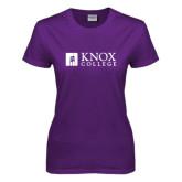 Ladies Purple T Shirt-Institutional Logo