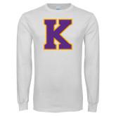 White Long Sleeve T Shirt-K