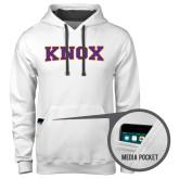 Contemporary Sofspun White Hoodie-Knox