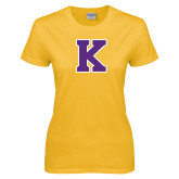 Ladies Gold T Shirt-K