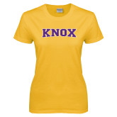 Ladies Gold T Shirt-Knox