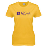 Ladies Gold T Shirt-Institutional Logo