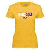 Ladies Gold T Shirt-Knox Golf