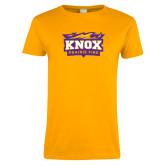 Ladies Gold T Shirt-Prairie Fire Logo, Custom Tee w/ Name and #