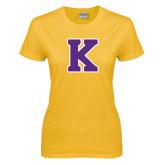Ladies Gold T Shirt-K