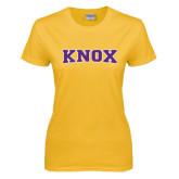 Ladies Gold T Shirt-Knox