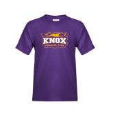 Youth Purple T Shirt-Prairie Fire Logo