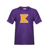 Youth Purple T Shirt-K